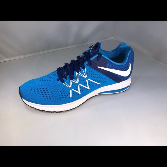 premium selection fb656 ef833 Men's Nike Zoom Winflo 3 Running Shoes NEW Blue/Wh